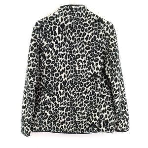 Lands' End Jackets & Coats - Lands End Cozy Sherpa Fleece Jacket Ivory Leopard